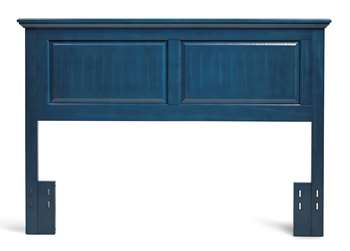 Twin Cottage Style Headboard in Wedgewood Blue