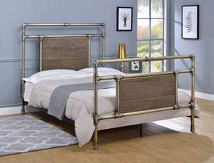 Elkton Metal Bed - Full, Antique Brass