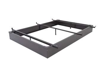 "7.5"" Height Full / Full XL Metal Bed Base in Java Brown"