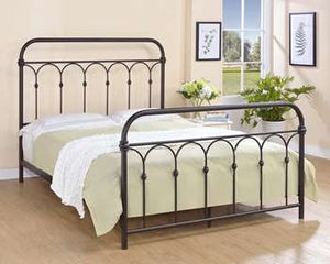 Hallwood Metal Bed - Queen, Rust Black
