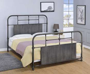 Coeburn Metal Bed - Queen, Antique Black