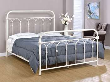 Hallwood Metal Bed - Queen, Antique White