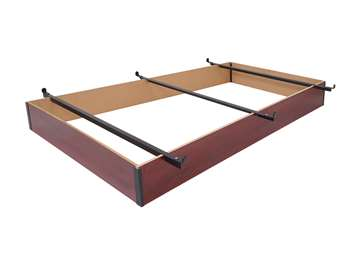 "7.5"" Height Twin / Twin XL Wood Bed Base in Cherry Finish"
