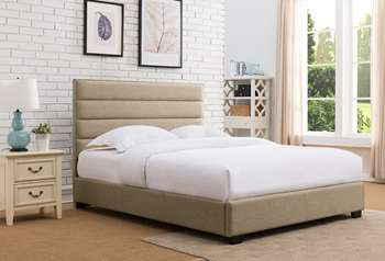 Delton Platform Bed - King, Beige