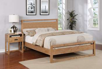 Vadstena Platform Bed - Queen, Almond