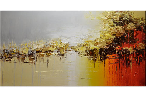 Gold Rain Abstract Painting - Loko deko