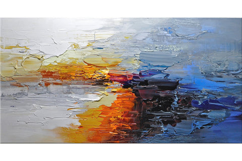 Arctic Sunset Abstract Painting - Loko deko