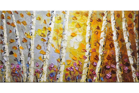 Autumn Breeze Trees Painting - Loko deko