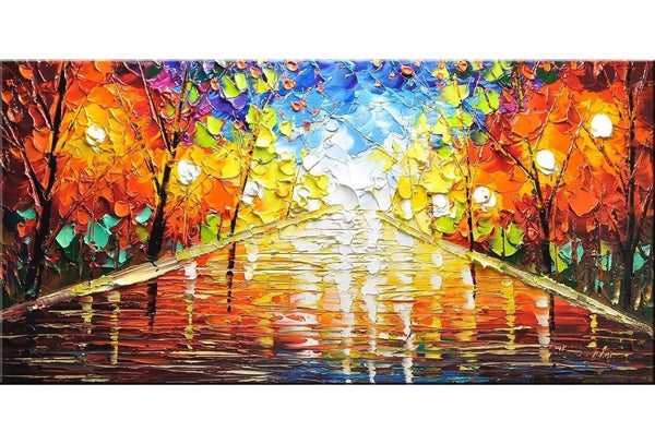 Autumn Promenade Trees Painting - Loko deko