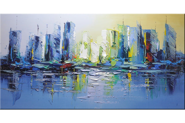 Blue City Cityscape Painting - Loko deko