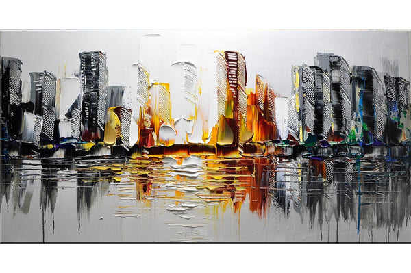 Downtown Dawn Cityscape Painting - Loko deko