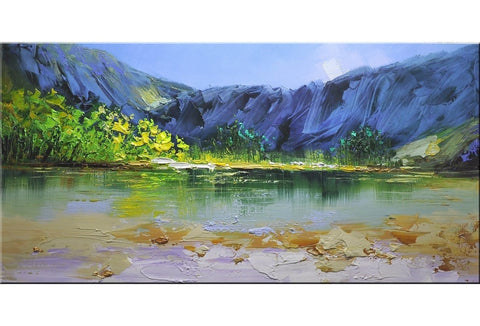 Emerald Lake Abstract Painting - Loko deko