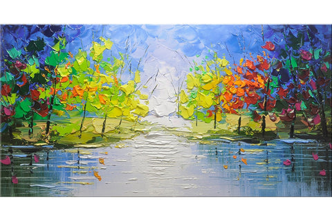 Garden of Eden Trees Painting - Loko deko