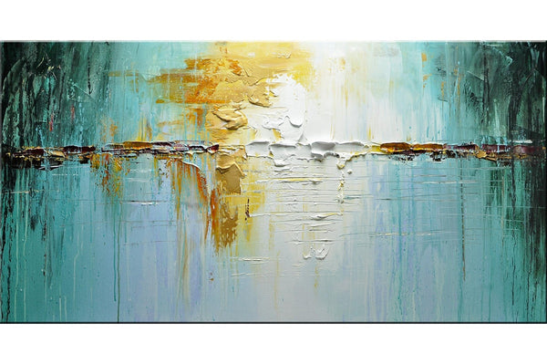 Gold Reflection Abstract Painting - Loko deko