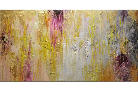 Golden Candy Abstract Painting - Loko deko