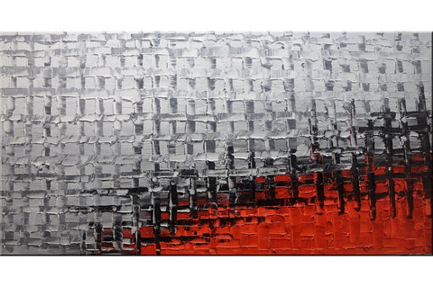 Industrial Red Cityscape Painting - Loko deko