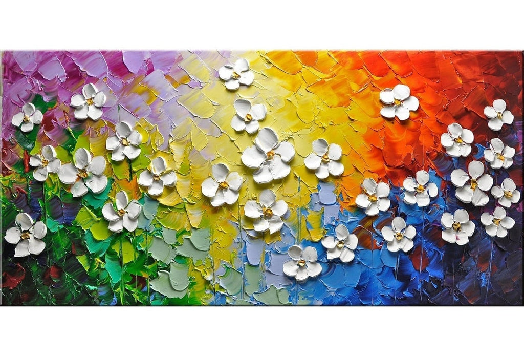 Rainbow Cherry Flowers Painting - Loko deko
