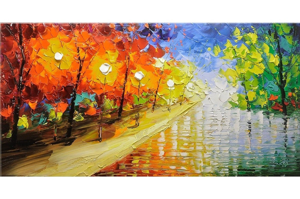 Rainbow Road Trees Painting - Loko deko