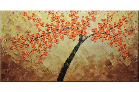 Red Blossom Flowers Painting - Loko deko