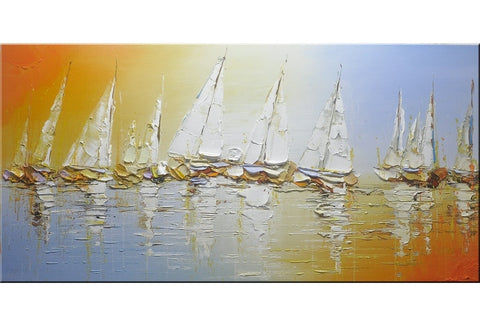 Sailing Boats Abstract Painting - Loko deko