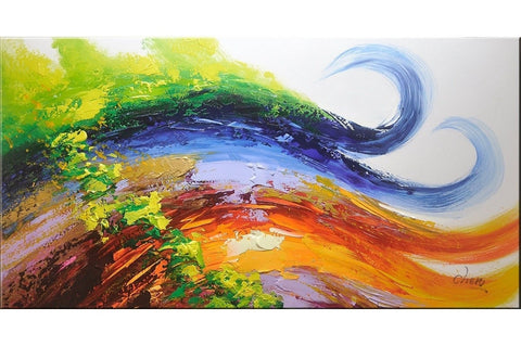 Wavy Groovy Abstract Painting - Loko deko