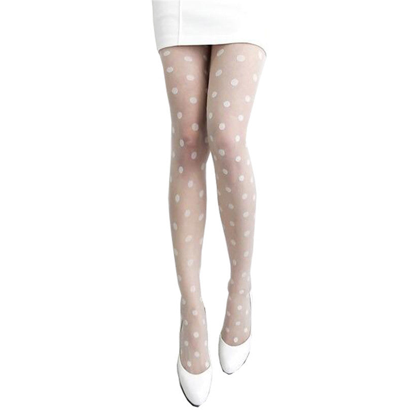 Over Knee High Socks,Polka Dots Background with Teapots Teacups Retro Cartoon Style,60CM