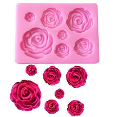 1 Piece Of Rose Flower Silicone Mold Decoration Tool, Chocolate Mold, Cake Mold, Plastic Mold, Sugar Mold, Kitchen Utensils