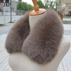 100% Real Fox Fur Scarf Fashion Women Real Fox Fur Collar  Scarf Genuine Natural Fox Fur Multicolor Scarves Collar