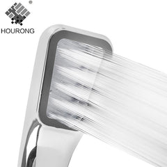 1Pc 300 Holes Bathroom Rainfall Shower Head Water Saving Flow Abs Rain Shower Head High Pressure Boost Bathroom Accessories