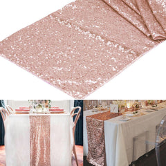 1Pcs 30X275Cm 30X180Cm Gold Rose Gold  Sequin Table Runner For Party Table Cloth Weddings Decoration Table Runners For Home