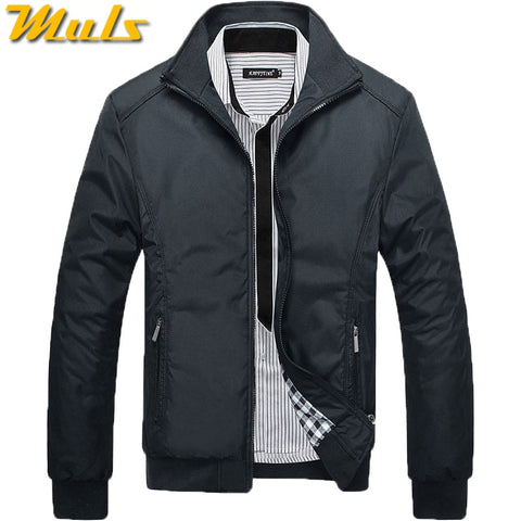 2017 Spring Jacket Men High Quality Autumn Mens Jackets Coat Male Stand Collar Flight Air Force Jacket Blue Black Green M-3Xl