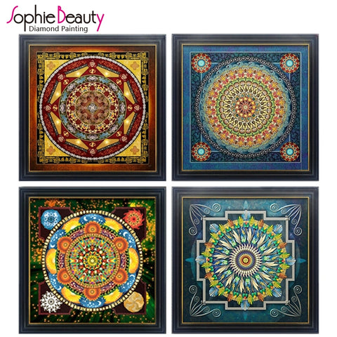 2018 Sale New Diamond Cross Stitch Embroidery Full Needlework Diy Painting Kit Universe Meditation Mandala Series Free Shipping