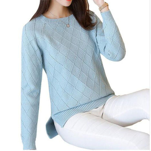 2018 New Thick Warm Autumn Winter Women Sweater Fashion Casual Knitted Ladies Tops Long Sleeve Female Pullovers Sweater Ac327