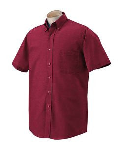 Van Heusen 56850 Men'S Short-Sleeve Wrinkle-Resistant Oxford - Cayenne - M