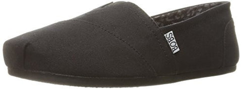 BOBS from Skechers Women's Plush - Peace and Love Flat, Black, 10 W US