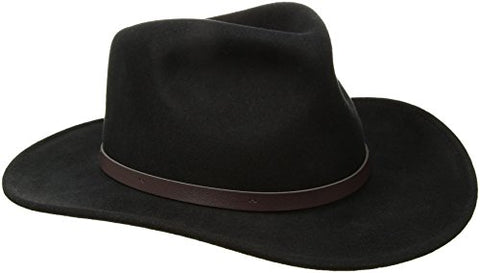 Scala Classico Men's Crushable Felt Outback Hat, Black, Large