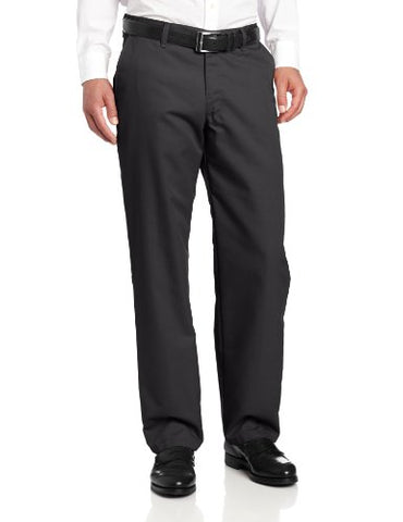 Lee Men's Total Freedom Relaxed Fit Flat Front Pant - 34W x 32L - Black