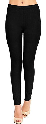 High Quality Solid Brushed Leggings (VP103-BLACK),Fit Size: 0 (S) - 12 (L)