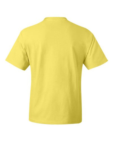 Hanes Beefy T Adult Short Sleeve T Shirt, Yellow, Medium