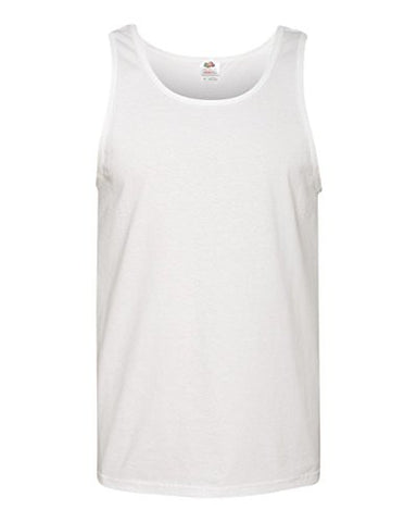 Fruit of the Loom 5 oz., 100% Heavy Cotton HD Tank L WHITE