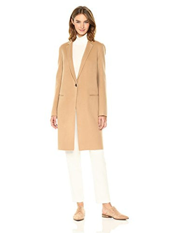 Theory Women's Essential Coat Df Outerwear, Palomino, S