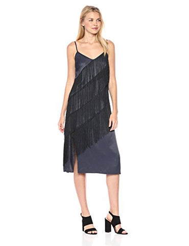 NIC+ZOE Women's Fringed up Dress, India Ink, 12