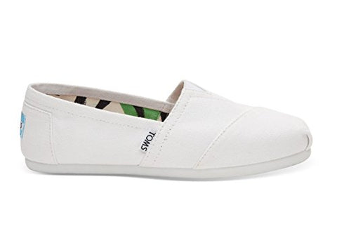 TOMS Women's Seasonal Classics Optic White Canvas 7 B - Medium