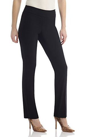 "Rekucci Women's ""Ease In To Comfort"" Straight Leg Pant With Tummy Control (16,Black)"