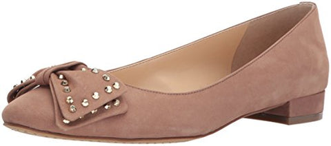Vince Camuto Women's Annaley Ballet Flat, Swiss Mocha, 9 Medium US