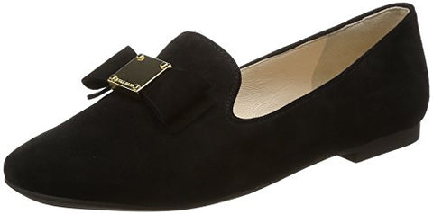 Cole Haan Women's Tali Bow Loafer, Black Suede, 6.5 B US