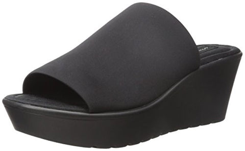 STEVEN by Steve Madden Women's Blowout Wedge Sandal, Black, 8 M US