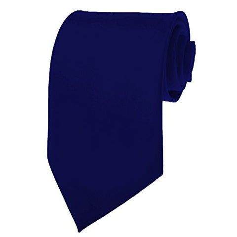 Navy Blue Necktie SOLID Mens Neck Tie Satin by K. Alexander