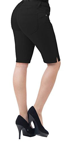 Super Comfy Stretch Bermuda Shorts B43300X BLACK 18