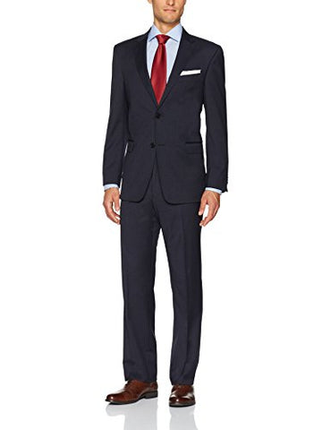 Tommy Hilfiger Men's Wool Stretch Fancy Performance Suit, Navy Mini Check, 46R